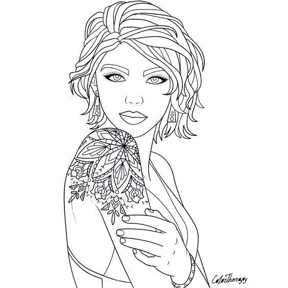 Pin On Body Art Tattoo Coloring Pages For Adults