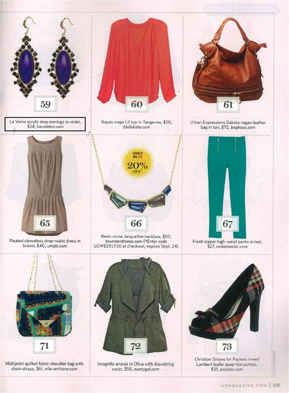 Our La Verne Drops are in the 9.17 issue of US Weekly!