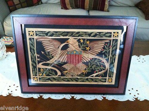 Patriotic Art eagle flag German Scherenschinitte Paper Cutting American Liberty