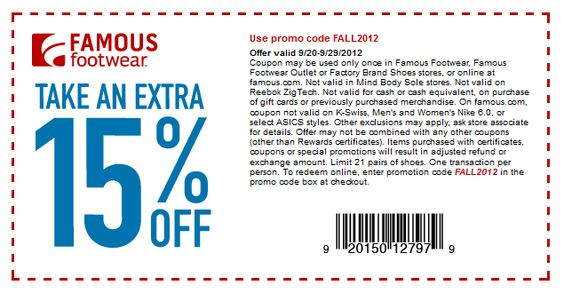 15%+off+at+Famous+Footwear,+or+online+via+checkout+promo+FALL2012+coupon+via+The+Coupons+App