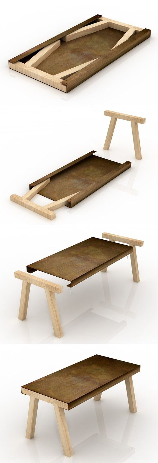 Mastro worktable, by Studio Gumdesign 'Mastro' is a furniture piece whose formal structure is derived from that of old work tables and benches found in a craftsman's workshop. The table is composed of...