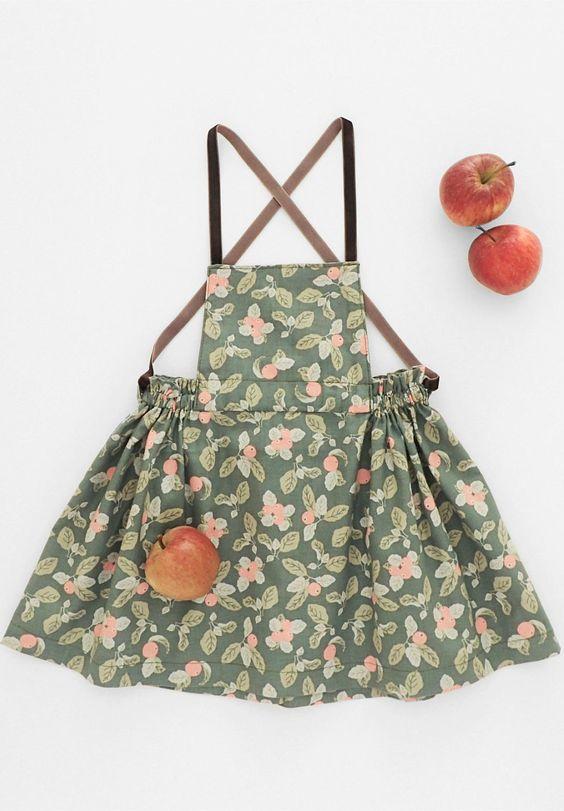 Orchard Apron Dress   moonroomkids on Etsy