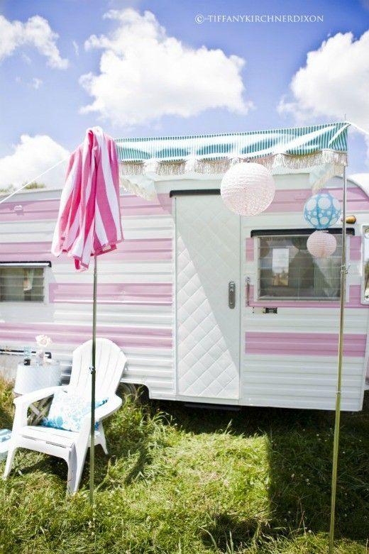 cotton candy camper: Trailer Makeover, Vintage Caravan