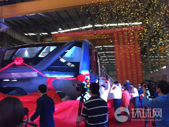 China's futuristic 'straddling bus' begins production this week