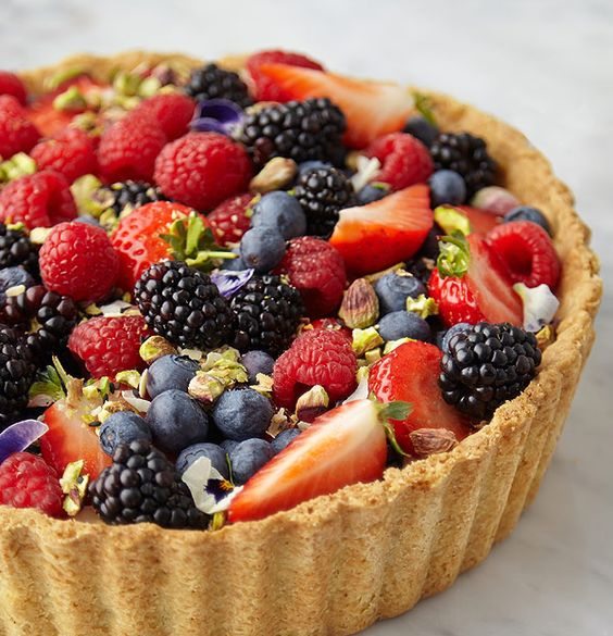 My seasonal tart piled with fresh berries and sprinkled with crushed pistachios http://www.dunnesstores.com/summer-tart/content/fcp-content