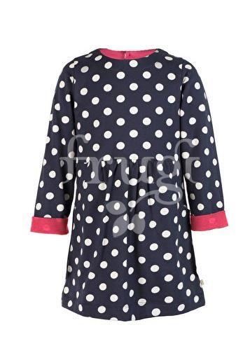 Sweat-Kleid LULU JUMPER DRESS in dunkelblau mit Punkten