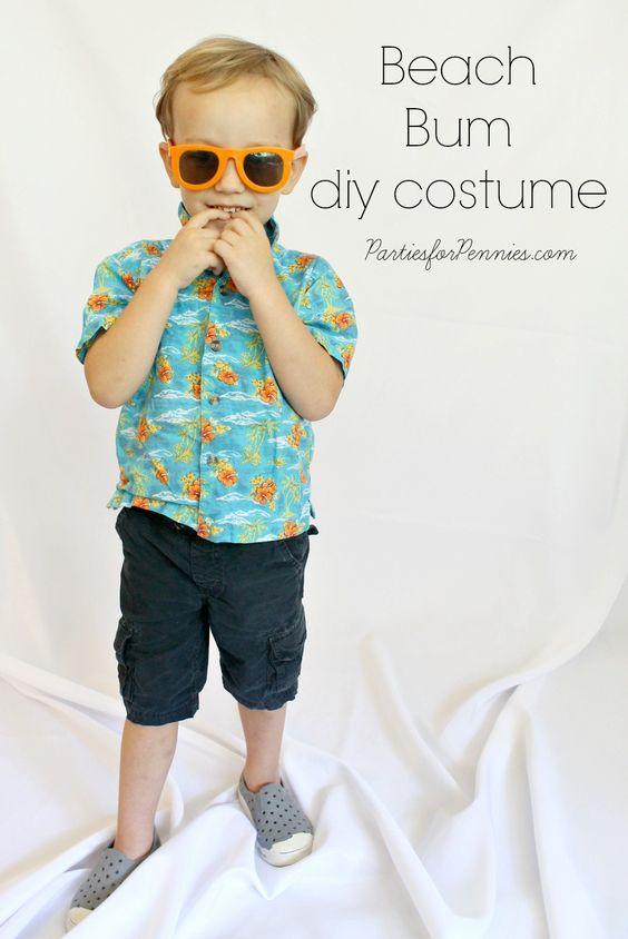 DIY Costume - Beach Bum by PartiesforPennies.com #beachbum #diycostume #homemadecostume # ...