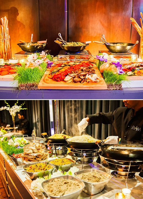 Luxe metallic wedding in love food bars and wedding for Food bar ideas for wedding reception