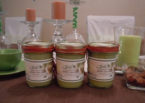 Green Tea Sugar scrubs for $6.00.  Makes Great Gifts for any occasion. Made fresh for every new order.  Only at ZamaTea.com