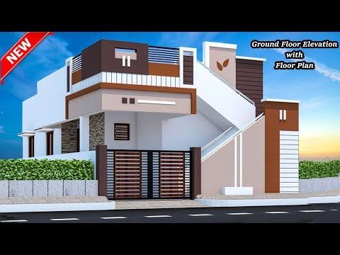20 Small House Elevation With Floor Plan Ground Floor Elevation Single Floor Elevation Small House Elevation Design House Elevation Small House Elevation