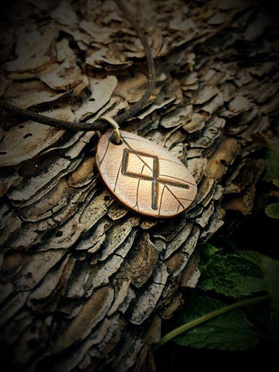 Rune Necklace Rune Pendant Rune Jewelry Viking by TheWickedGriffin