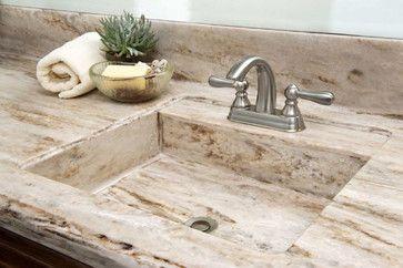 Corian® Sandalwood Kitchen traditional-