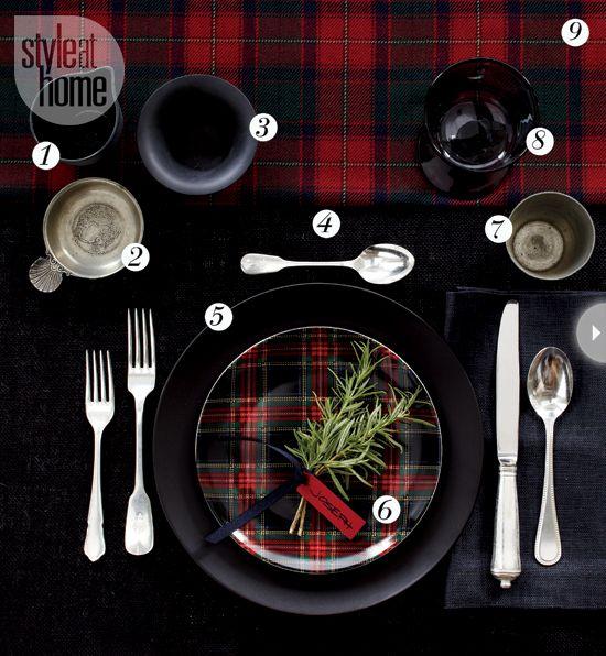4 fabulous holiday table settings #Christmas #holiday #festive #kitchen
