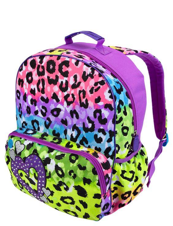 Girls Clothing Backpacks Leopard Backpack Shop