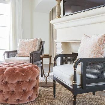 Pink Velvet Tufted Chair For Living Room | Velvet Tufted Chair, Living Room Chairs, Velvet Dining Chairs