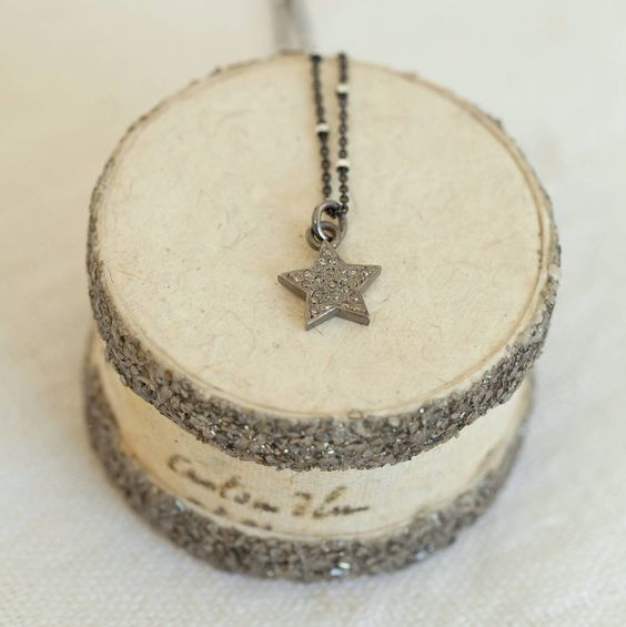 pave set diamond small star necklace by between you & i | notonthehighstreet.com