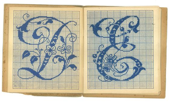 Embroidery Patterns Alphabet 02