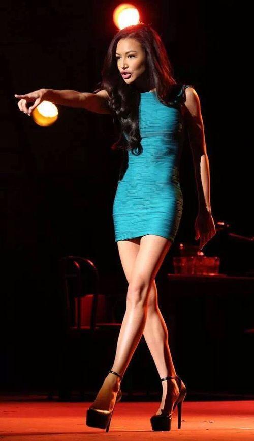 Naya Rivera/Santana Lopez  Don't Rain On My Parade.