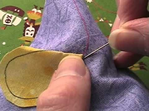 needle-turn applique with pins video tutorial || shinyhappywendi