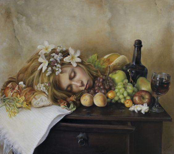 "Sin título ""Naturaleza muerta"" - 80cm x90cm.oleo/tela. 2012. Artista: José Luis López Galván"