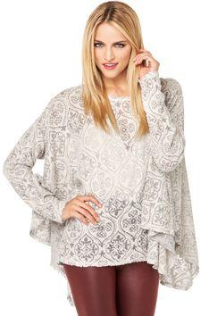 Terry Burnout Sweater #shopakira #beseenin2015