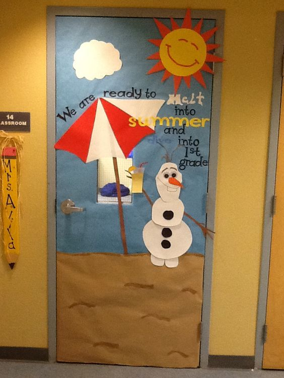 Summer Themed Classroom Decorations : Olaf summer classroom door doors pinterest
