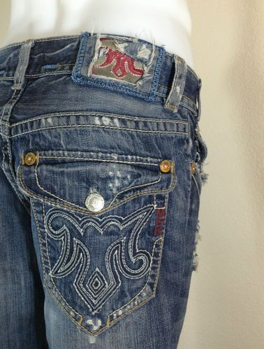 Men's MEK Denim Jeans OAXACA 31x34 Distressed Embroidered ...