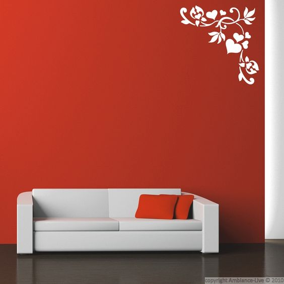 Wall decals design - Wall decal Pattern with hearts | Ambiance-sticker.com