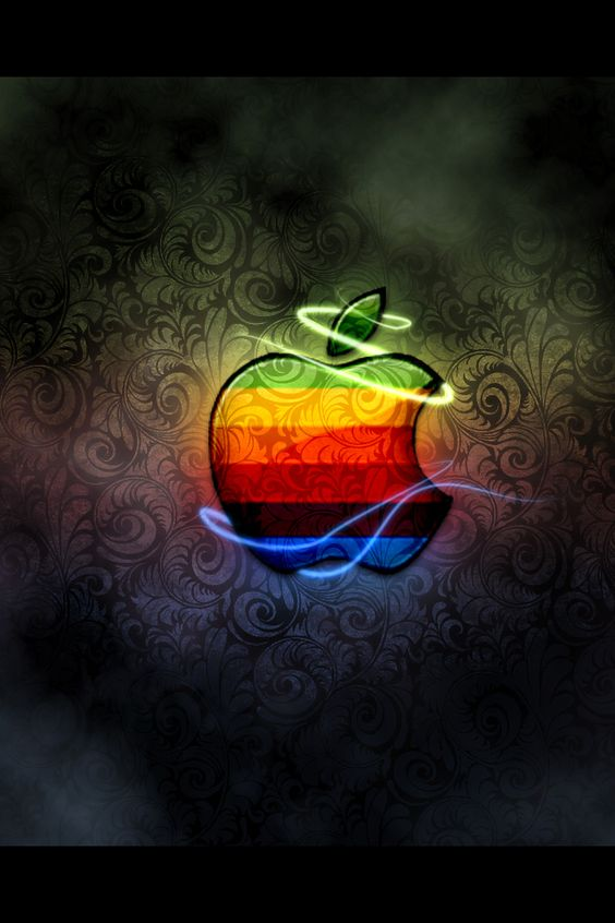 七色に輝くApple