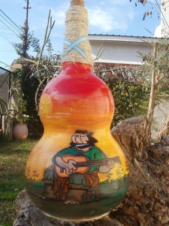 Botella con Gaucho.