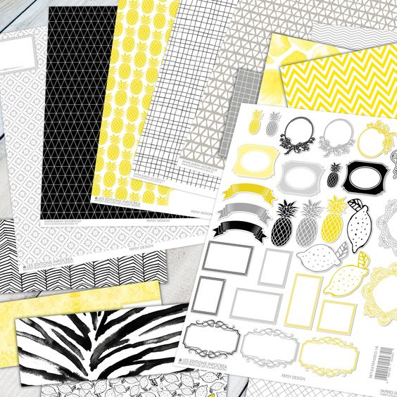 PRODUITS, BASI'THEMES, PAPIERS COLLECTIONS, PEPSY DESIGN, SETS DE PAPIERS, REVERIE: