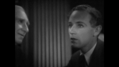 Leslie Howard and Alec B. Francis in Outward Bound, 1930