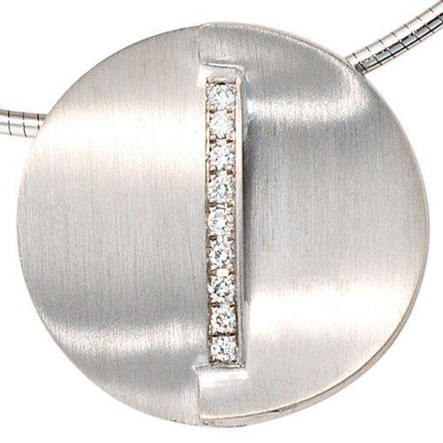 Damen-Anhänger mattiert 14 Karat (585) Weißgold 9 Diamant 0.14 ct. Dreambase, http://www.amazon.de/dp/B0097RC2J4/ref=cm_sw_r_pi_dp_lA.itb1EWFV1R