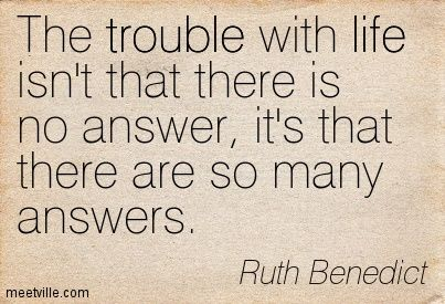 Anthropology | Quote | Anthropologist Ruth Benedict