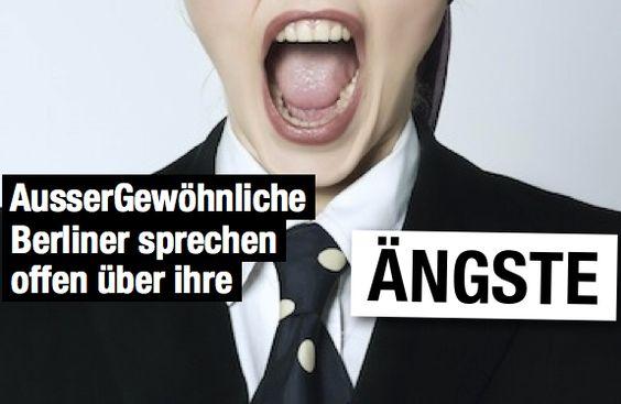 Sie tragen Anzug oder Businesskleidchen. Sie wissen, wer sie sind, was sie tun. Ihr Auftritt: sicher und selbstbewusst mit einem strahlenden Lächeln im Gesicht, als könnte es nix und niemand trüben. Auf einmal Schweißausbruch… Berliner Geschäftsleute sprechen über ihre Ängste und Phobien : http://www.aussergewoehnlich-berlin.de/berliner-sprechen-ueber-ihre-angst/