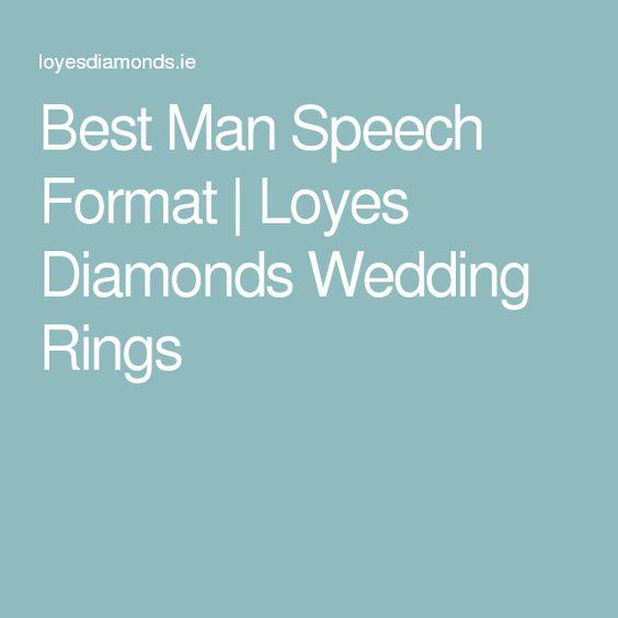 Best Man Speech Format Loyes Diamonds Wedding Rings - speech format