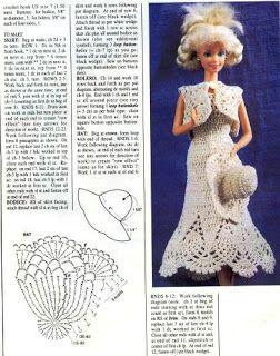 Arte e croche: Receita do vestidinho/#Free #Crochet #Barbie #DRESS *USE #GOOGLE #TRANSLATE /#Pattern #en #Espanol