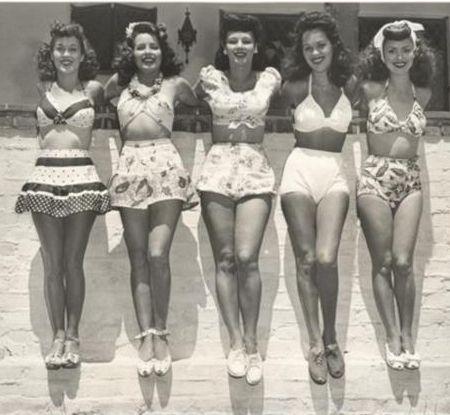 Bathing suits, c. 1940s.