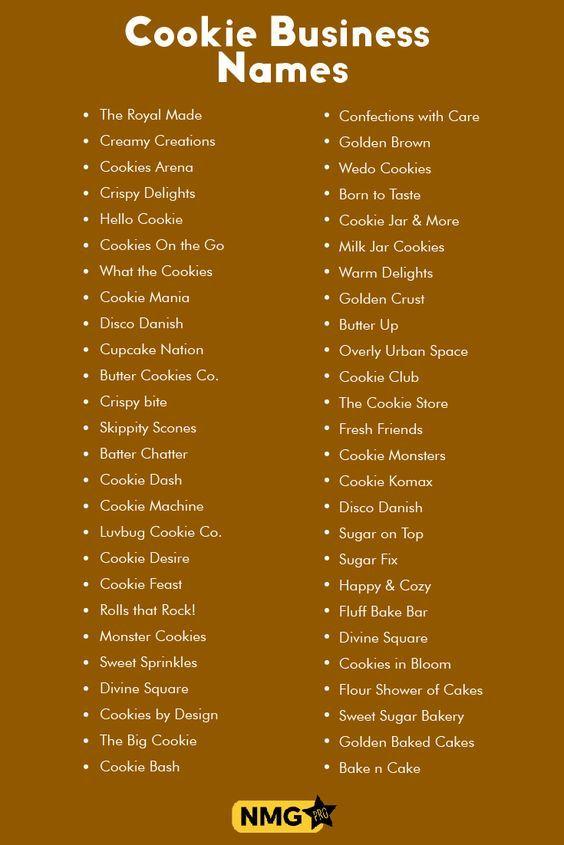 Cookie Business Name Generator Generate Cookie Business Names Kartu Nama Kartu Nama Bisnis Kemasan Kue Kering