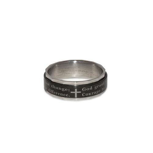 Serenity Spinner Ring Recovery Prayer Rings For Men Spinner Rings Rings