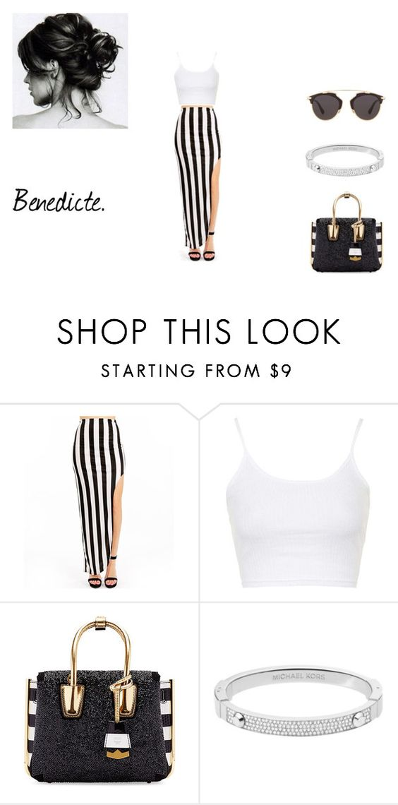 """""""Dior so Real --"""" by bene-668 ❤ liked on Polyvore featuring Topshop, MCM, Michael Kors, Christian Dior, women's clothing, women, female, woman, misses and juniors"""