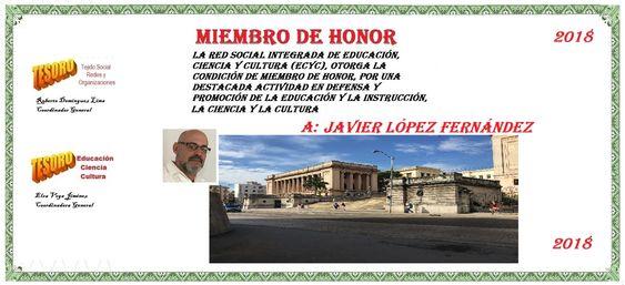 Javier López ECyC Miembro de Honor-