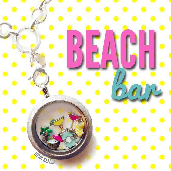 #Margarita, #Cosmopolitan, & Coconut drink charms from #OrigamiOwl.  #vacation #locket.