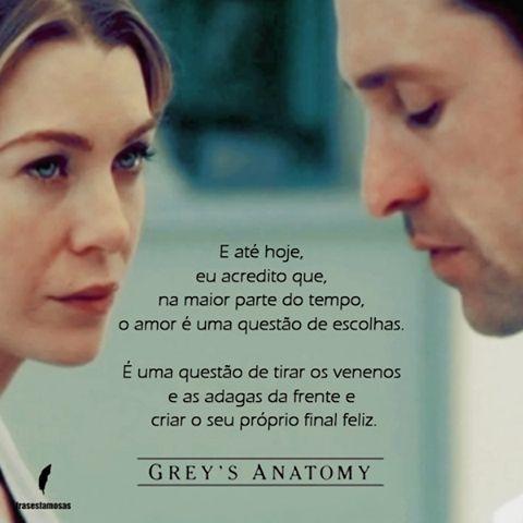 Frase do seriado Grey Anatomy