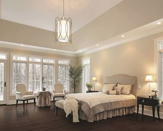This Bedroom Is Beautiful And Elegant! Love The Rich Color Of The Wood Balanced With The Lighter Colo… | Gorgeous Bedrooms, Gorgeous Flooring, Luxury Vinyl Flooring