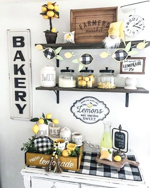 The Sweetest Lemon Home Decor Ideas For Summer Diy Darlin Kitchen Farmhouse Themes