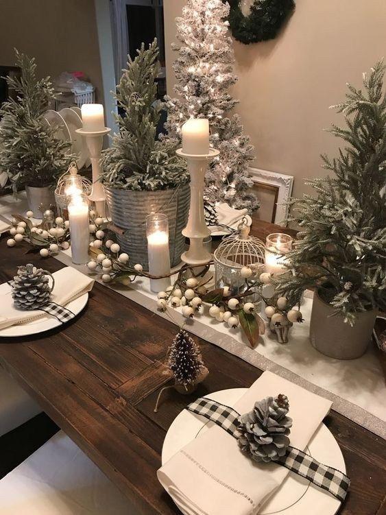 30 Christmas Table Decorations Ideas 2019 Christmas Table Decorations Christmas Decorations Rustic Beautiful Christmas Decorations
