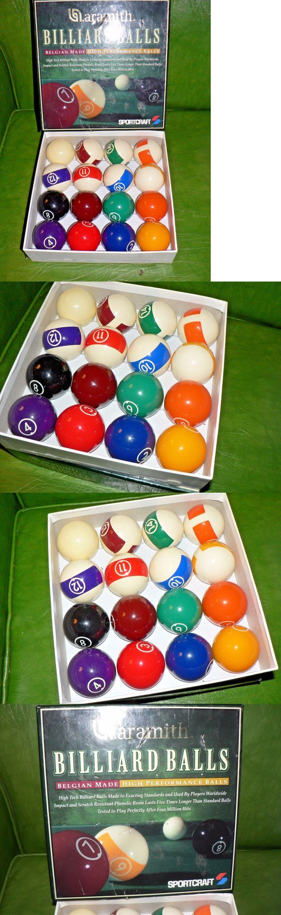 Complete Ball Sets 75193: Vintage Billiard Balls Aramamith BUY IT NOW ONLY: $44.5