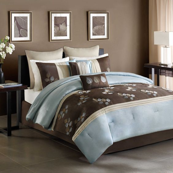 New bedding for the French Room. Matches great with wall and floor colors already in there. Tory Comforter Set