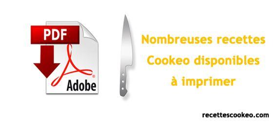 Recette Cookeo PDF